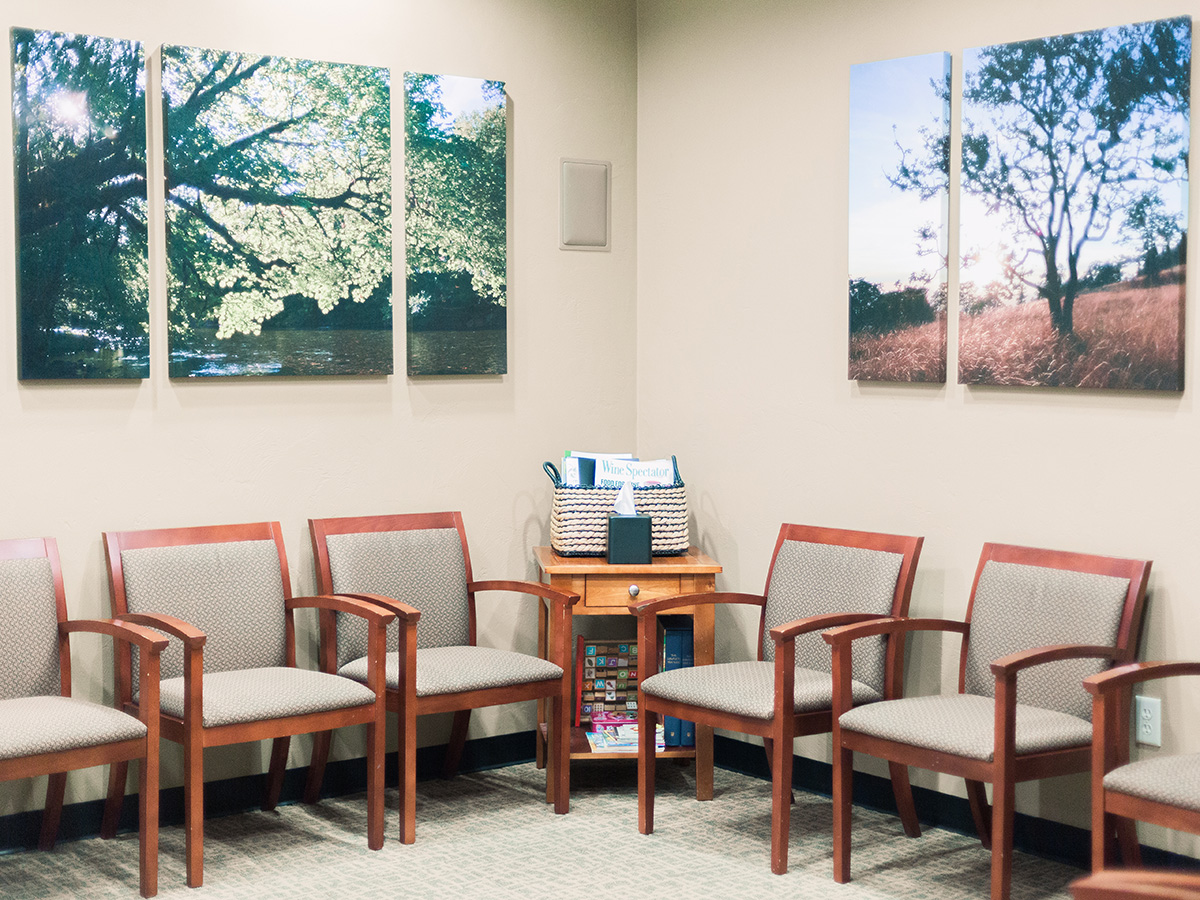 Waiting area at Eugene Dental Group, in Eugene, OR